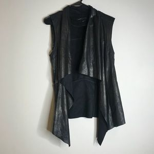 ZARA black faux suede vest